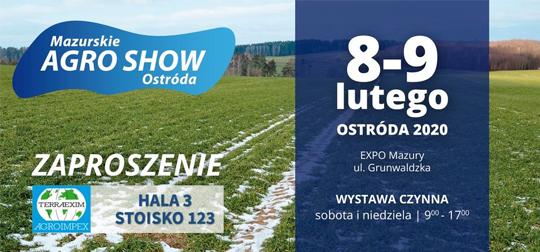 Wystawa rolnicza Mazurskie Agro Show 2020